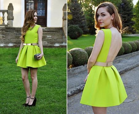 yellow dress models
