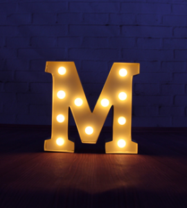 led light letter